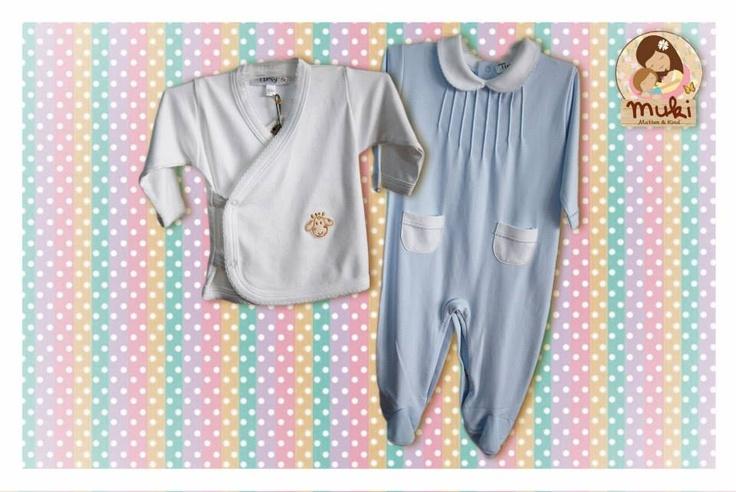 Camisita kimono y enterito de algodón peruano Tallas: de 0 a 12 meses Camisita:$9.990 Enterito:14.990