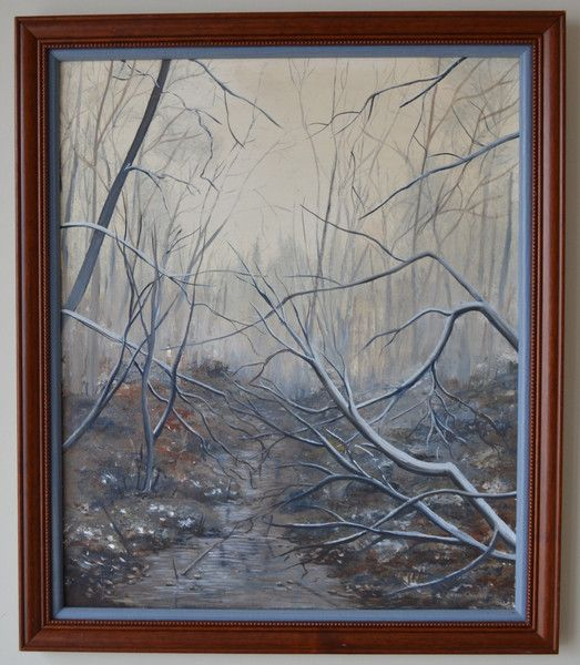 Forest in Spring Painting by Lillian Oakley