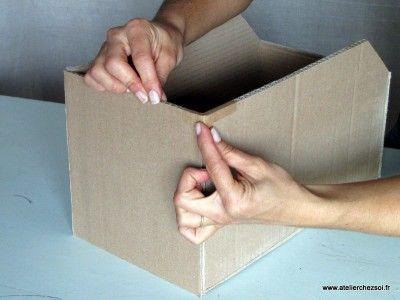 """Technique : Comment """"krafter"""" vos créations en carton ? - Créer ses meubles en carton"""