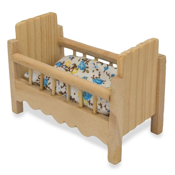 """2.25"""" Blank Unfinished Wooden Baby Crib"""