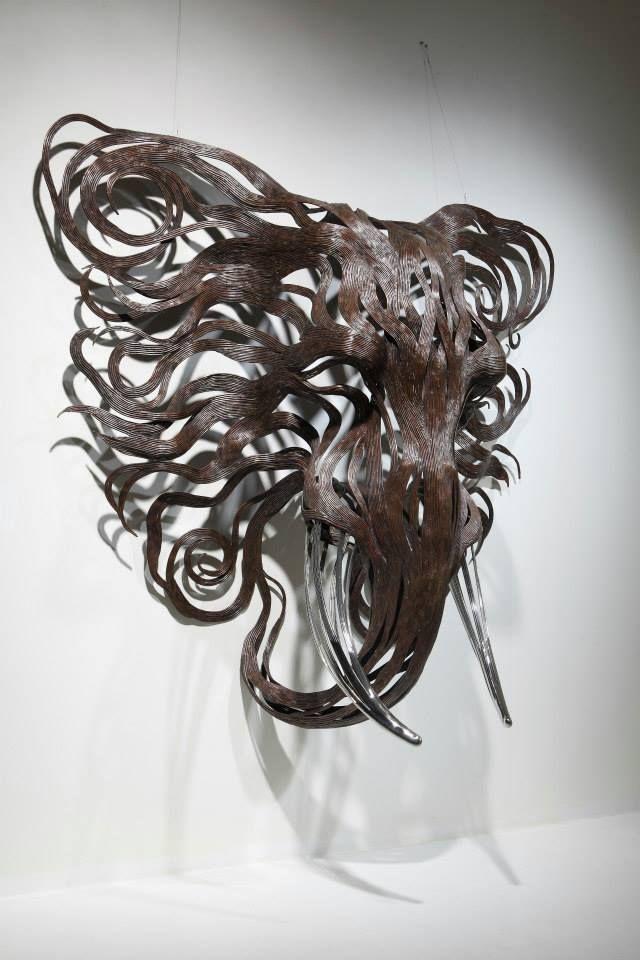 Les Sculptures animalières de Bandes métalliques de Sung Hoon Kang (10)