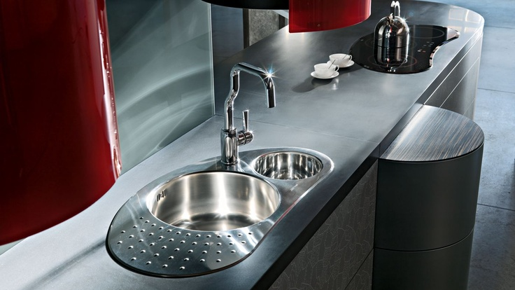 Beautiful kitchen faucet, designed by Alessandro Mendini (La Cucina Alessi by Oras)