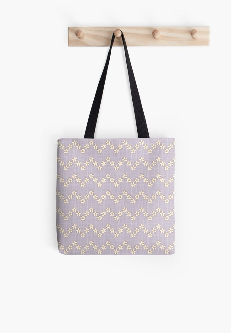#chevron #tiny #blossom #fresh #Flowers #calm #Springtime #Pastel #Flowery #bloom #botanical #garden #orchidhush #orchid #lilac #violet #Mia #redbubble #totebag