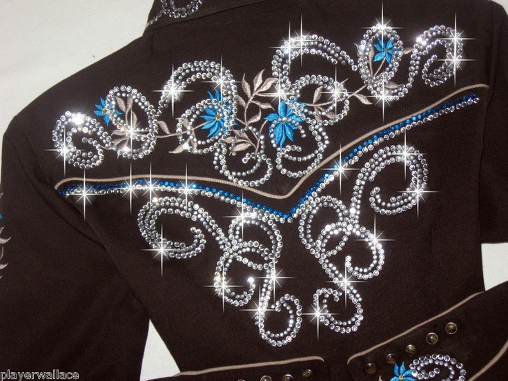 JUST FLY! CUSTOM WESTERN PLEASURE SHOW SHIRT REINING/RODEO QUEEN/ BARREL RACING - Show