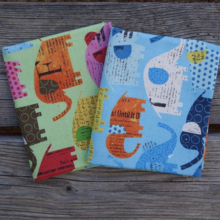 Circus Elephants - Nancy Wolff - Japanese Mini Fat Quarter Fabric Bundle