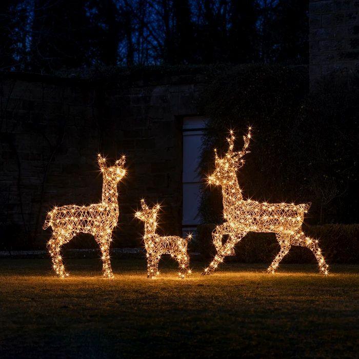 Daddy Rattan Reindeer Outdoor Christmas Figure Outdoor Christmas Lights Outdoor Christmas Figures Outdoor Christmas