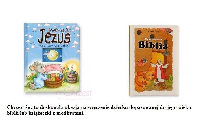Biblia i książeczka z modlitwami dla dzieci.