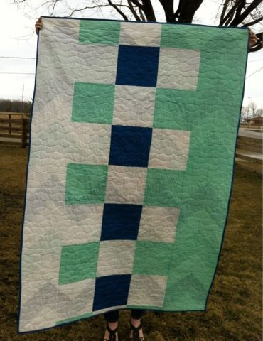 A Farm Wife's Journal. Pieced quilt back.