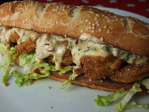 shrimp po boy sandwich paula deen