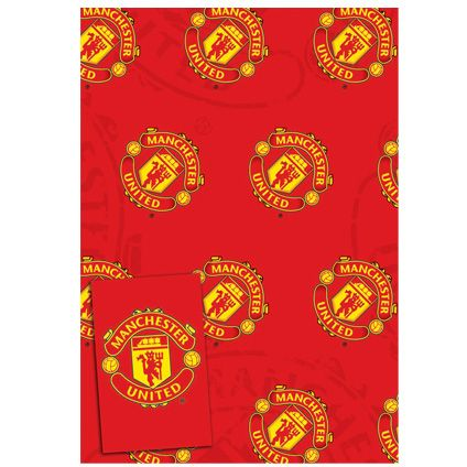 Manchester United Gift Wrapping Sheets and 2 Gift Tags available from Publishers with Free UK Delivery at https://www.danilo.com/Shop/Cards-and-Wrap/Gift-Wrap-and-Tags