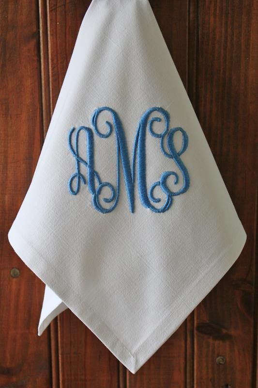 Vintage French Metis Linen Monogrammed by BurgundyDelights on Etsy, £22.50