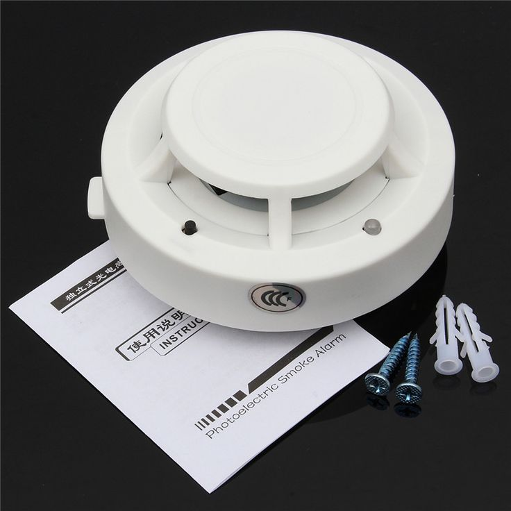 Tinggi Sensitif 85DB DC 9 V Kontrol Bau Asap Gas Sensor Induksi Alarm Detektor Kebakaran Rumah Aman Keamanan Putih