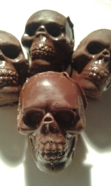 Chocolate skull candies