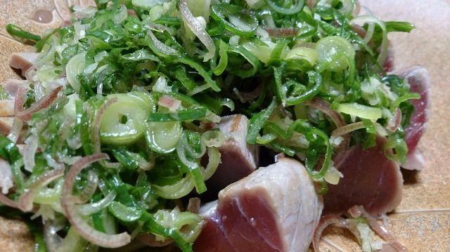 野郎飯流・かつおの五薬味塩たたき | 野郎飯-適当レシピと旨い店-