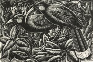 Nga huia, 1949 by E. Mervyn Taylor. Gift of the New Zealand Academy of Fine Arts, 1950. Te Papa