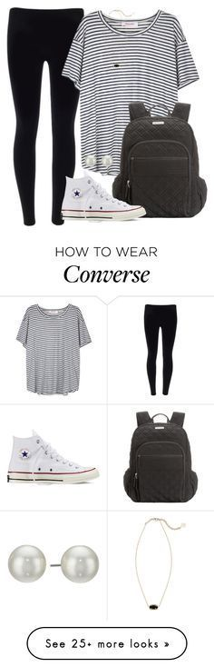 """""""Good morning guys!"""" by abbybp42 on Polyvore featuring Organic by John Patrick, Kendra Scott, Vera Bradley, Converse and Kenneth Jay Lane"""