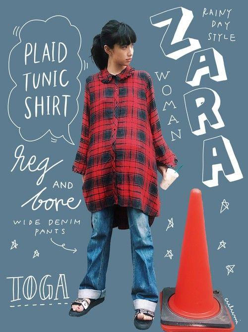 ZARAは本当に可愛いものだらけですね…オーバーサイズ感とフリルに一目惚れして即購入したチェックシャツが主役のスタイルです。  前後のアシンメトリー 襟と袖のふんだんなフリル パンクの匂いを感じる赤チェック 全てにおいて完璧です!  今年の秋冬の不思議なバランスの服にはワイドデニムパンツがまだまだ使えますね。買ってよかった 笑   雨が続いてるのでかなりラフなコーディネートが続きます!   ▲▲▲▲▲▲▲▲▲▲▲▲▲▲▲▲▲▲▲▲▲▲