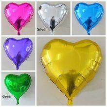 2 pezzi cuore d'oro 24 cm/10 pollice mylar foil balloon per il matrimonio e compleanno e festival o altri decorazione del partito spedizione gratuita(China (Mainland))