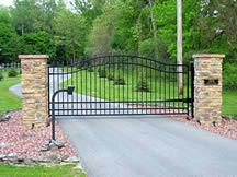 entrance gates | Automatic Driveway Gates | Wood & Iron Entry Gates | Dallas, TX