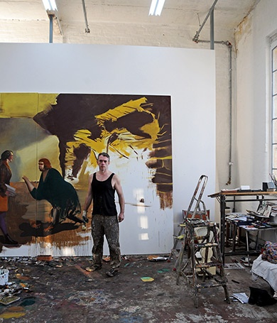 Neo Rauch´studio - what a brilliantly messy and awesome looking studio ,inspiring and intriguing.