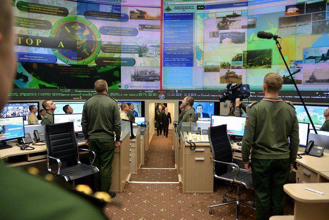 Владимир Путин прибыл в Национальный центр управления обороной Российской…