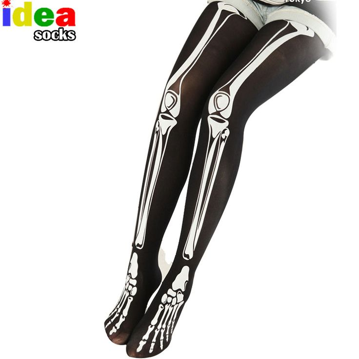 2.75$  autumn winter women sexy pantyhose 3d print skeleton bone creative tights Stovepipe skull terror scary stocking Step Foot-in Tights from Women's Clothing & Accessories on Aliexpress.com | Alibaba Group