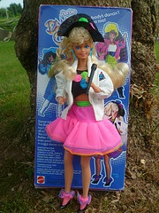 Dance Club Barbie, 1989. Does anyone remember the cassette that came in the package?