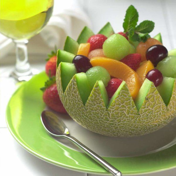 Cantoloupe Bowl with Fruits