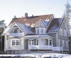 The house model Ainola, made by the construction company Kannustalo in Kannus in Finland. Near my family home