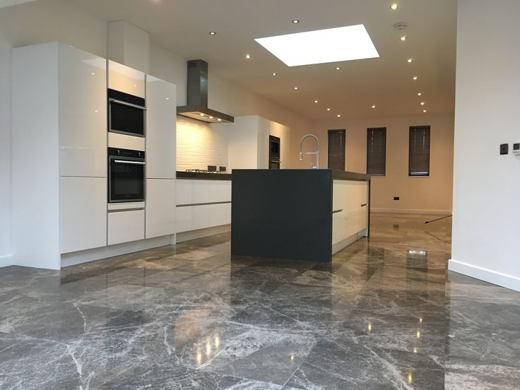 Marble floor cleaning company restoring polishing and sealing Marble kitchen floor Brighton East Sussex