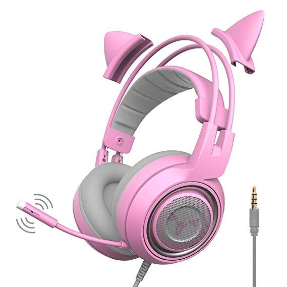 SOMIC G951s Pink Gaming Headset with Mic for PS4, Xbox One