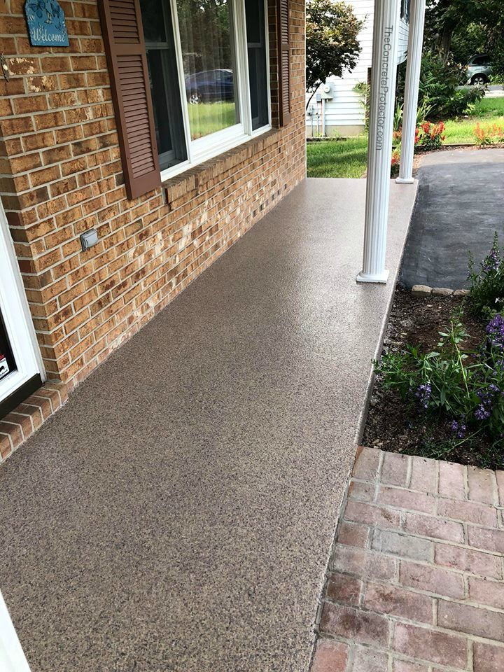 Decorative Graniflex Patio Cantonville Md Concrete Patio Makeover Concrete Patio Designs Concrete Coatings