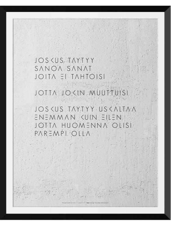 Graafiset julisteet - Juliste Joskus | Raamiin.fi - sisustustaulujen ja kuvien verkkokauppa