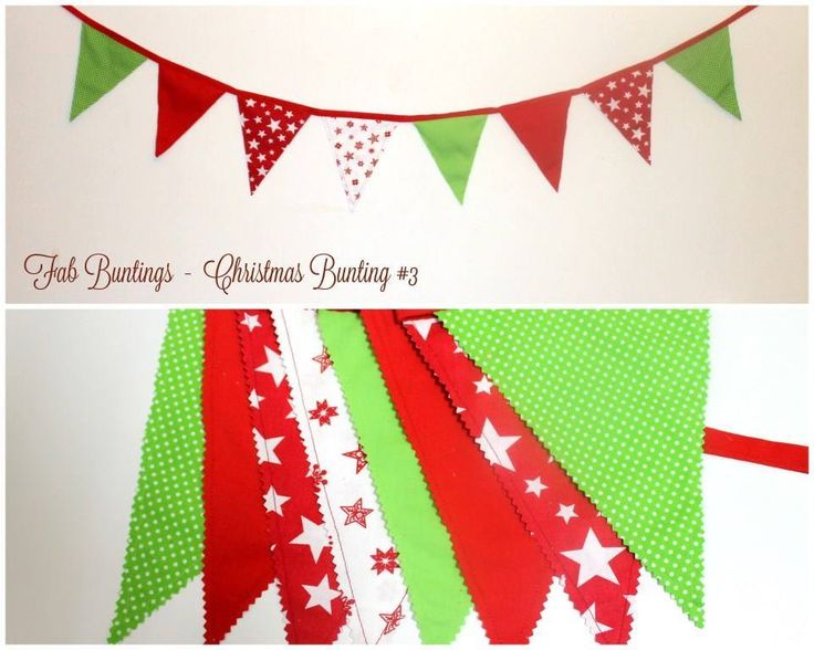 Handmade by Fab Buntings CHRISTMAS BUNTING: