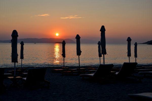 Sunset at Kastani beach
