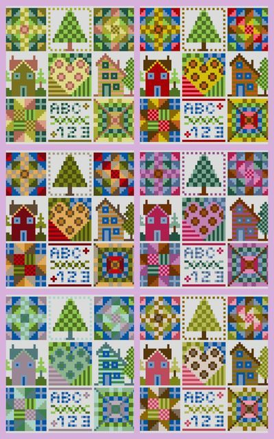 gazette94: PATCHWORK  This site has free patterns in the posts and beautiful photos -- counted x-stitch