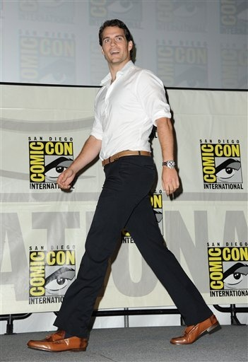 Gorgeous Henry Cavill blows into Comic Con http://britsunited.blogspot.com