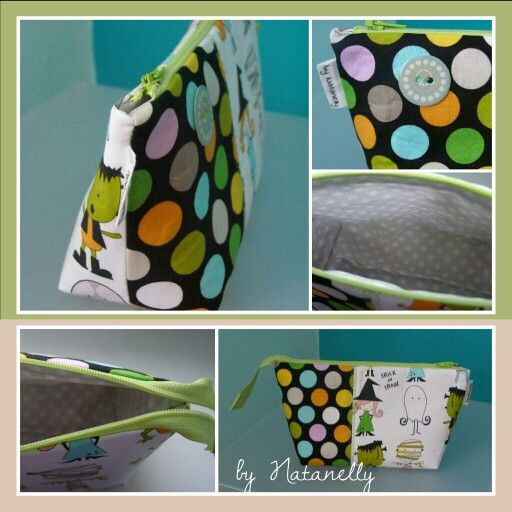 Cosmetic bag with laminated cotton inside