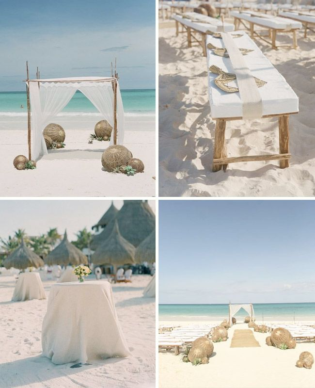 113 best blue beach wedding images on pinterest beach weddings we love simply decorated beach weddings pale sand turquoise water gauzy white fabric and giant twig balls pair perfectly with the organically beautiful junglespirit Image collections