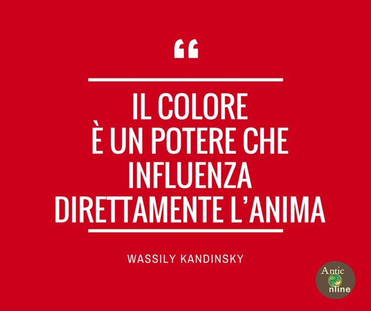 Il colore è un potere che influenza direttamente l'anima #arte #art #quotes #aforismi #citazioni