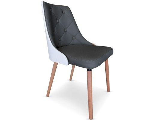 Chaise matelass e coloris bois blanc gris la chaise cadix est une magni - Chaise en bois blanc pas cher ...