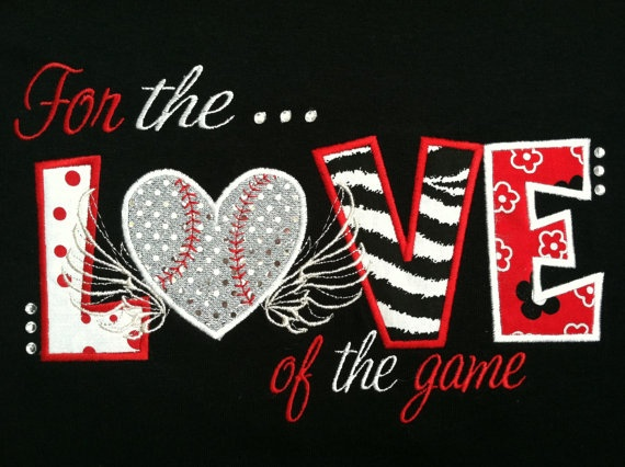 FOR the LOVE of the GAME applique embroidery design