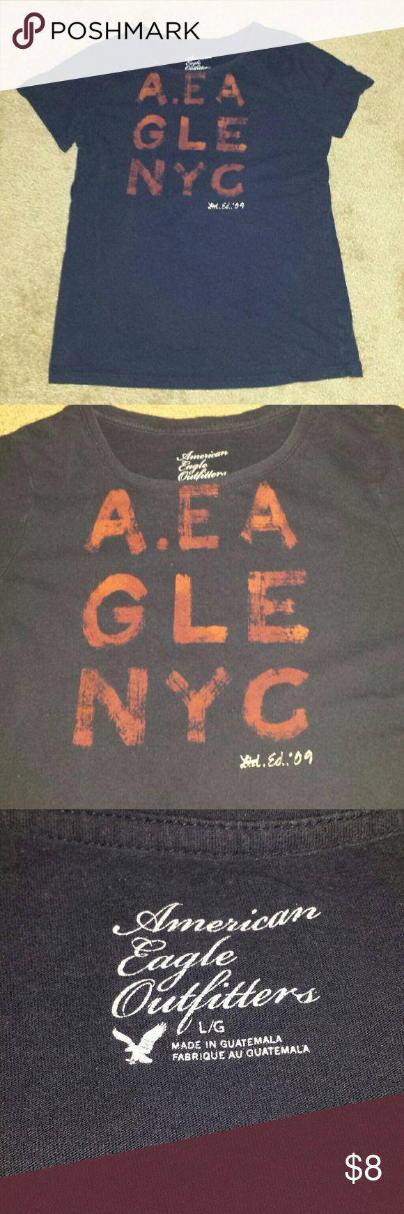 American Eagle navy blue shirt American Eagle navy blue shirt American Eagle Outfitters Tops Tees - Short Sleeve