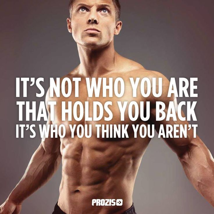 What holds you back it's who you think you aren't!  #Prozis #ExceedYourself…
