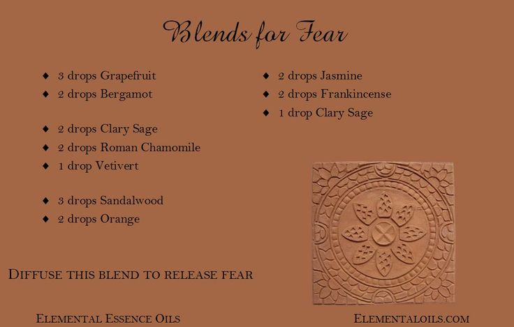 #DIY diffuser blend for fear. Add this #essentialoils blend to your diffuser to help you heal your fears.