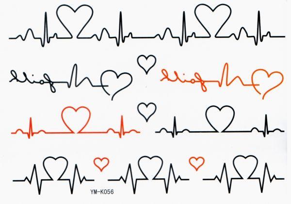 Heartbeat Monitor Grafikzeile Tatowierung 4