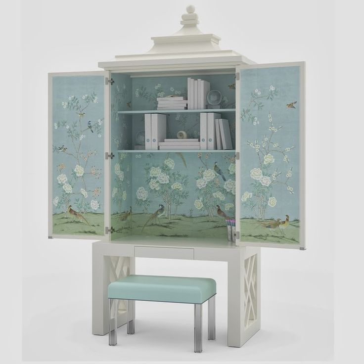 STYLEBEAT: A HIDDEN AGENDA: FURNUTURE TO WORK WITH AND IN BY CORBETT-WRIGHT | Chinoiserie Cabinet
