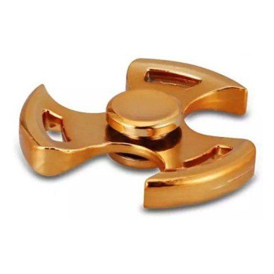 Shuriken Tri Fidget Hand Spinner Anti Stress Draaier Steel Metal Toy Speelgoed Relax ADHD Autisme Stop Roken Goud