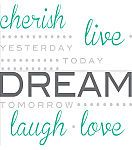 "Wall Pops Cherish Dream Live Wall Quote Decals, 21"" x 18"""