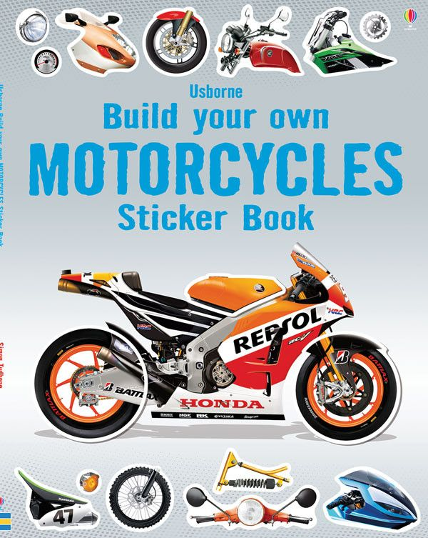 Build 22 of the coolest, fastest, most outrageous machines on two wheels. Find the right stickers and fit them in place to complete your collection.